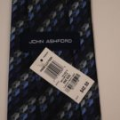 John Ashford Tie Blue Geometric - NWT