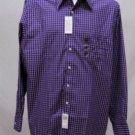 New Van Heusen Purple Plaid Shirt Wrinkle Free L-XL