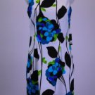 AGB Dress Size 10 White w/ Floral Pattern 60's Style