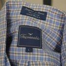 Flaconnable Blue Plaid Shirt Size L Button Down Collar