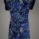 New Laundry by Design Blue Black Tunic Dress Size L & S