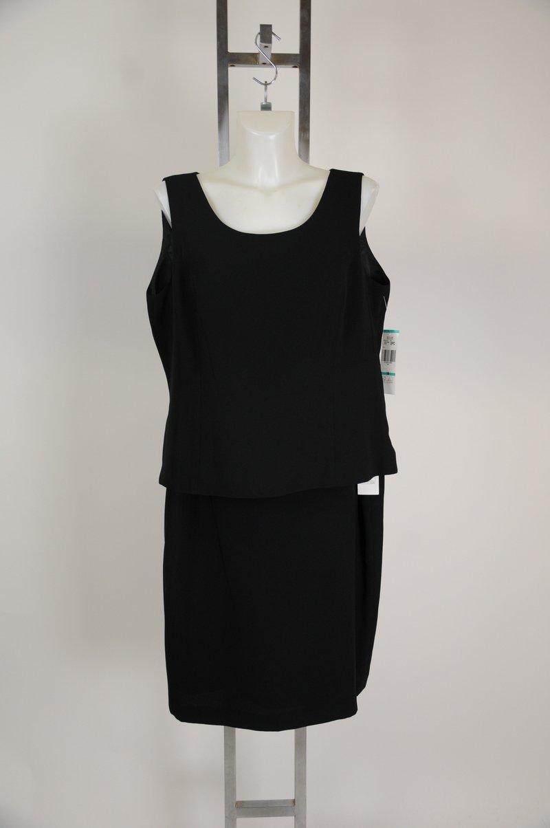 New Jones New York Tank Top Skirt Black Polyester Womens Suit Size 16