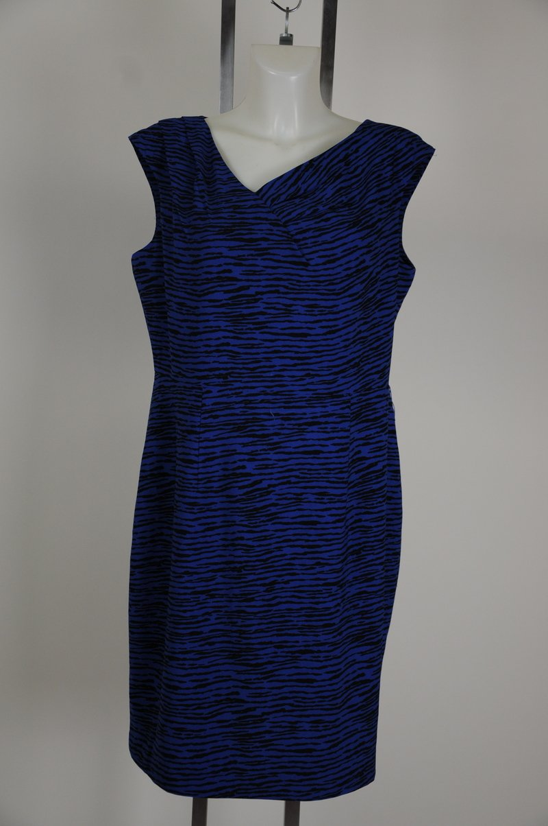 NWD Calvin Klein Blue & Black Wear To Work Dress Size Size 14