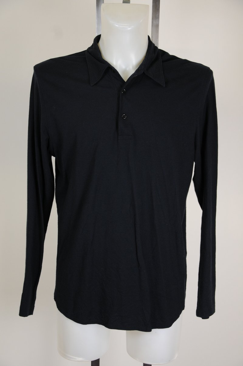 NWOT J Crew Long Sleeve Polo Rugby Shirt Size L 100% Cotton Navy Blue