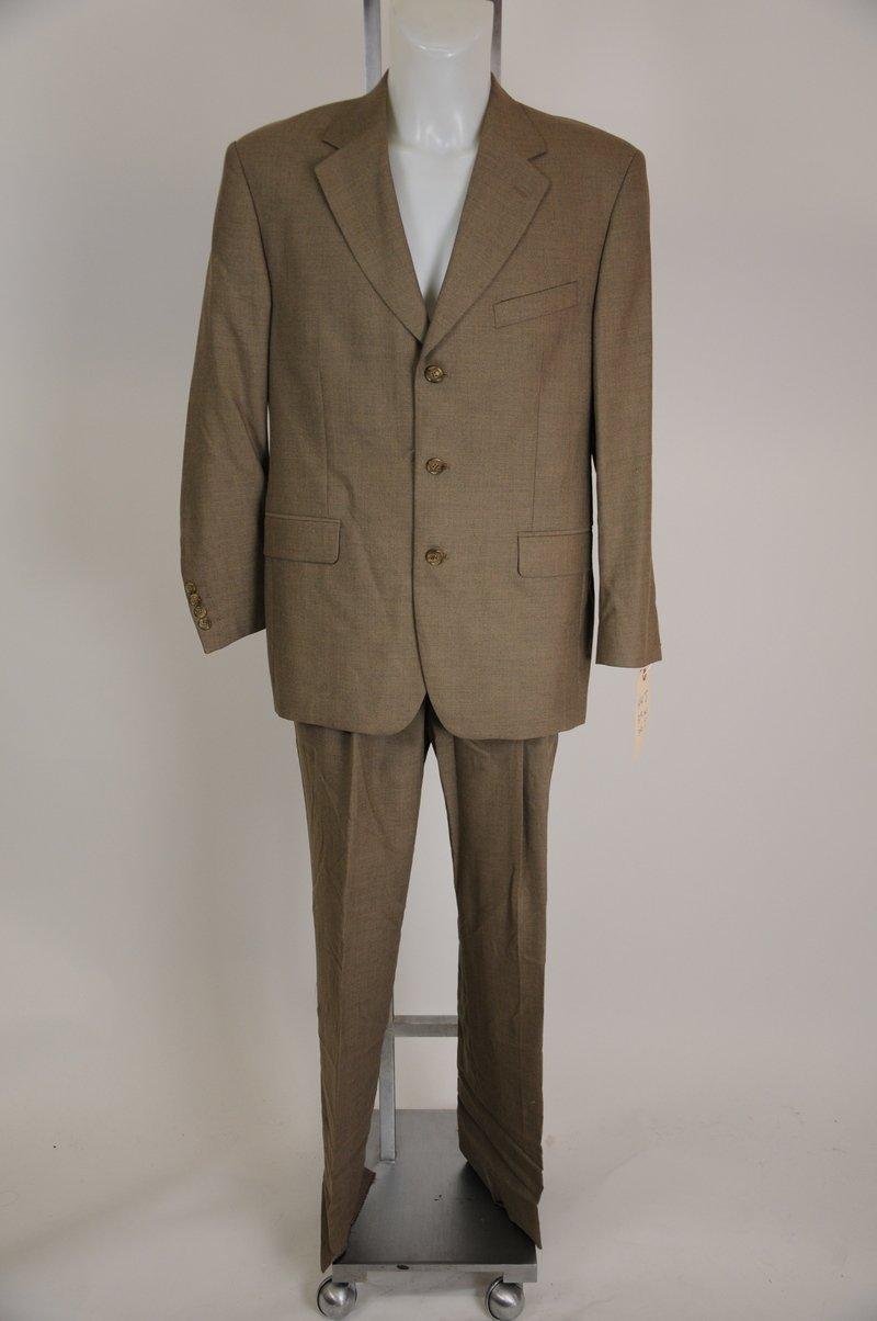 Gian Caro Lamberti Olive Brown 100% Wool Suit Size 44