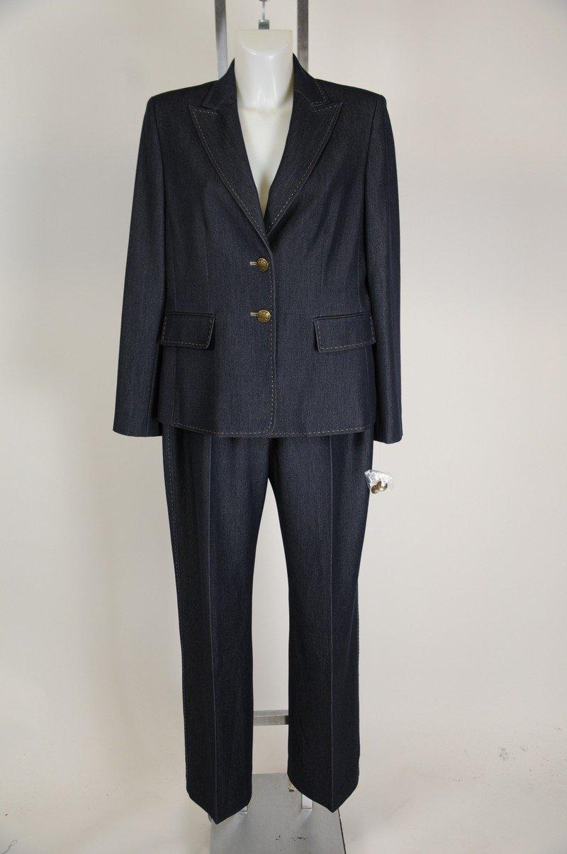 NWOT Kasper Blue Denim Like Womens Suit Size 12