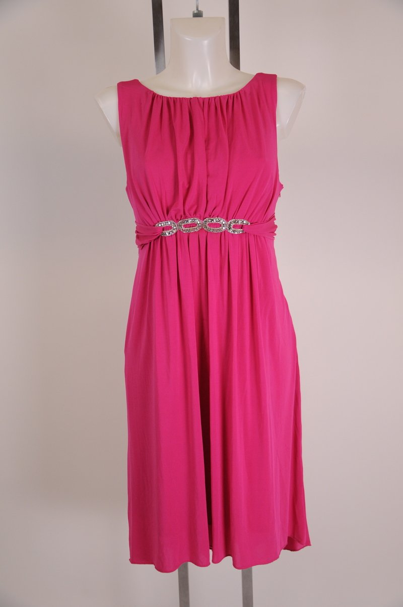 New Bright PInk Cute Sexy Baby Doll  Dress By Laundry by Shelli Segal Size 12