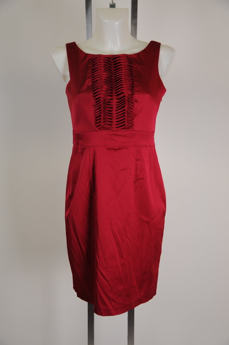 New Donna Ricco Petite Size 6 Red Wear To Work Sexy Dress