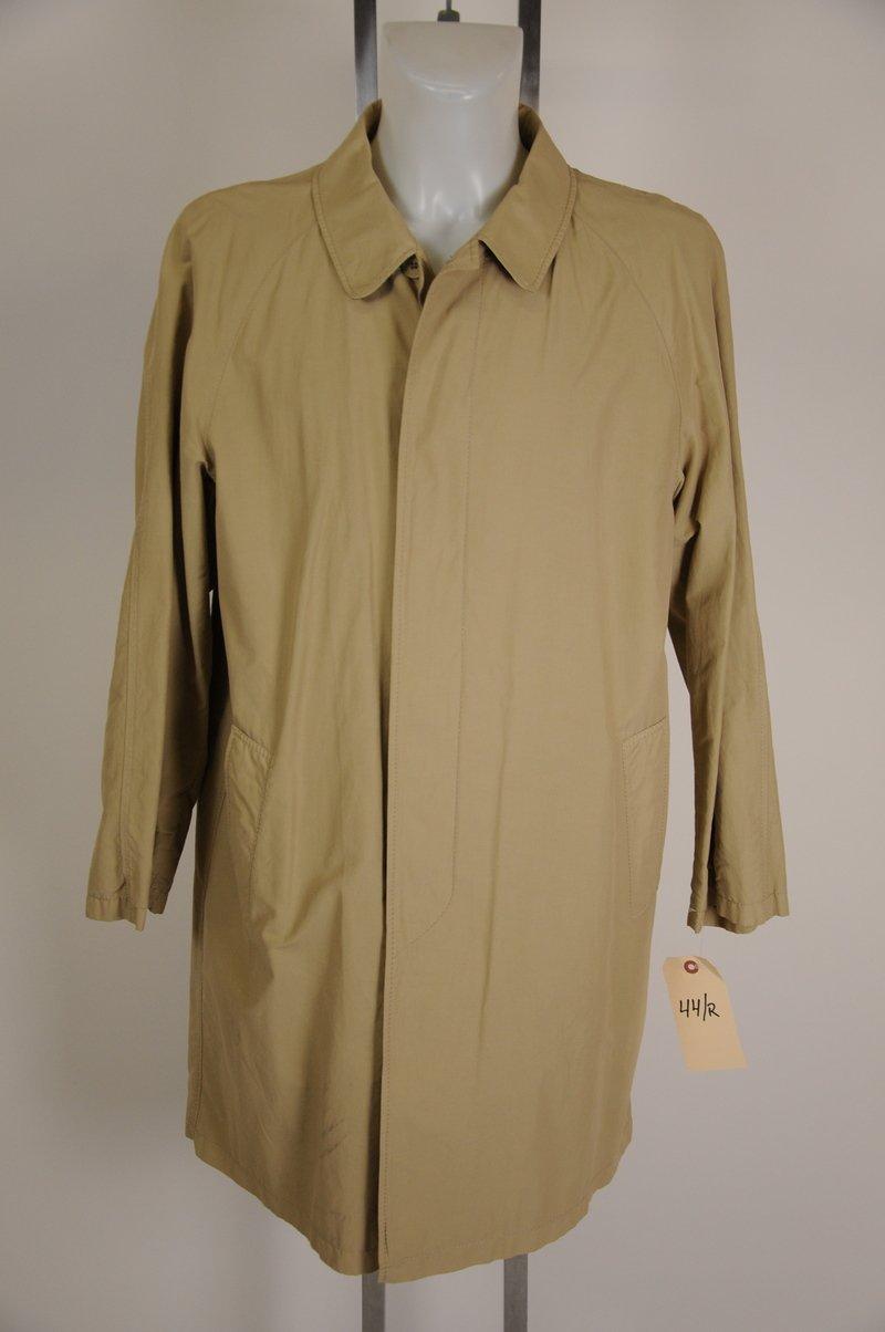 NWOT Mens Burberry London Light Rain Coat Tan Wool Camel Hair Liner Size 42R