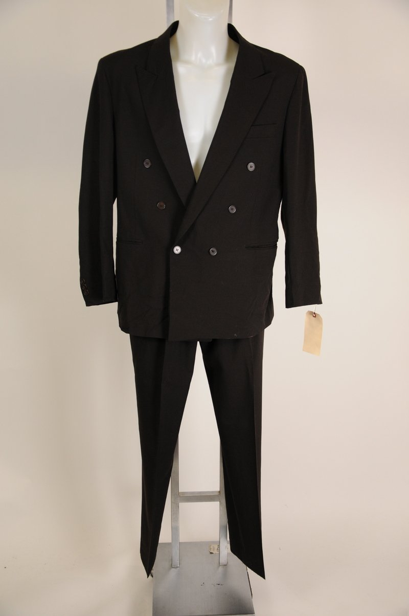 NWOT Guisseppi Drak Brown Black Double Breasted Suit Size 42R 100% Wool
