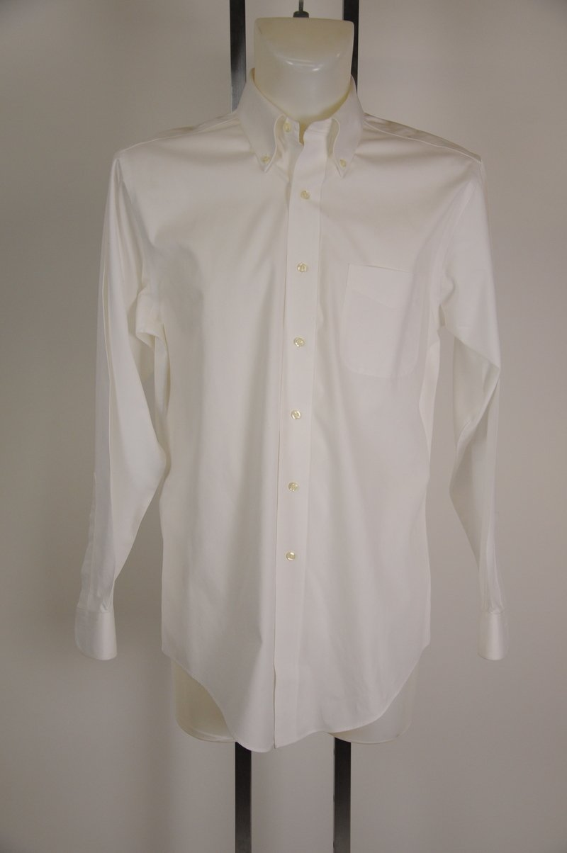 NWOT Brooks Brothers Slim Fit White 100% Cotton Dress Shirt Size 15 1/2 - 35