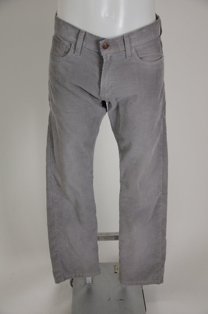 Levi's Slim Straight 514 Gray Grey Corduroy Size 30/32 Pants