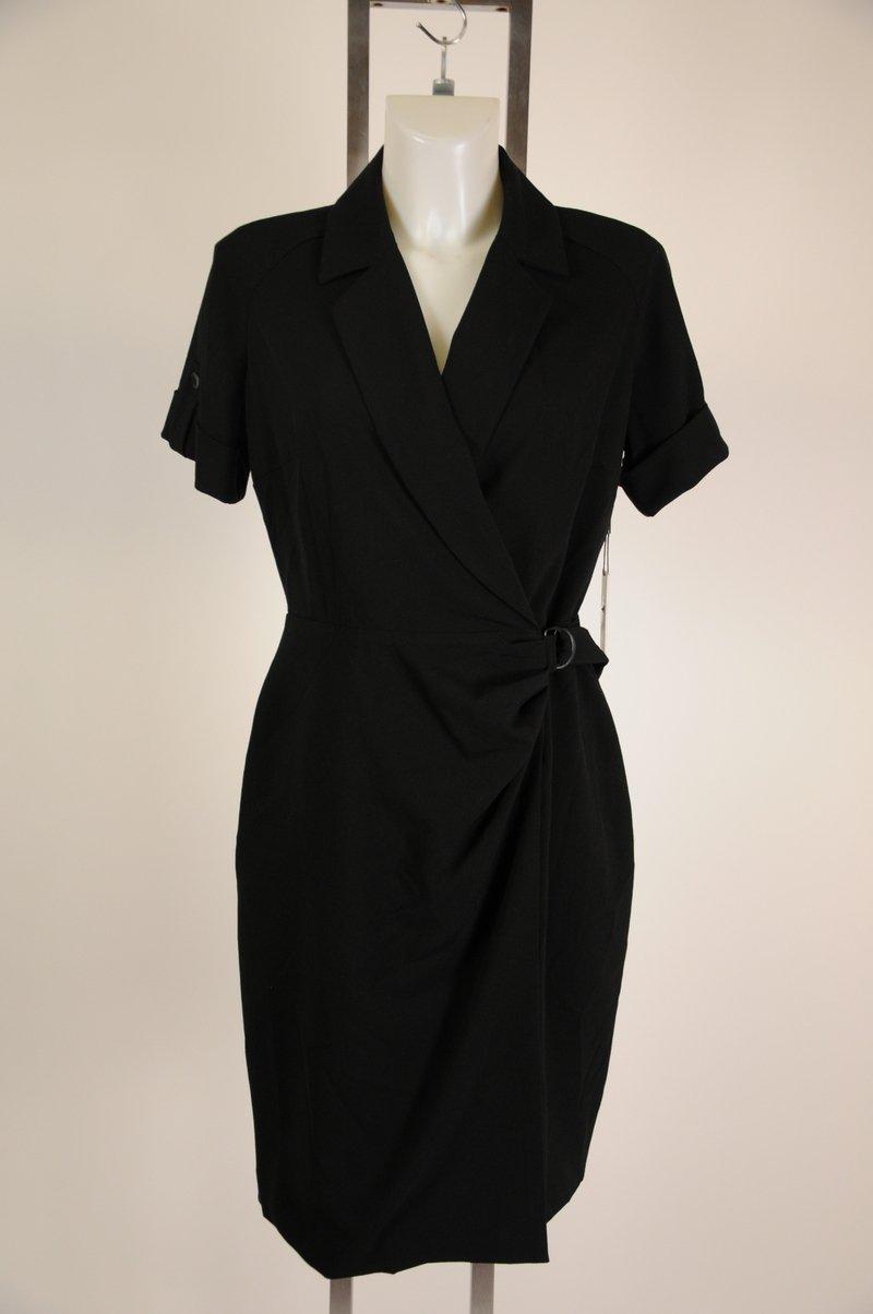 New Calvin Klein Black Short Sleeve Wear To Work Dress Size 10
