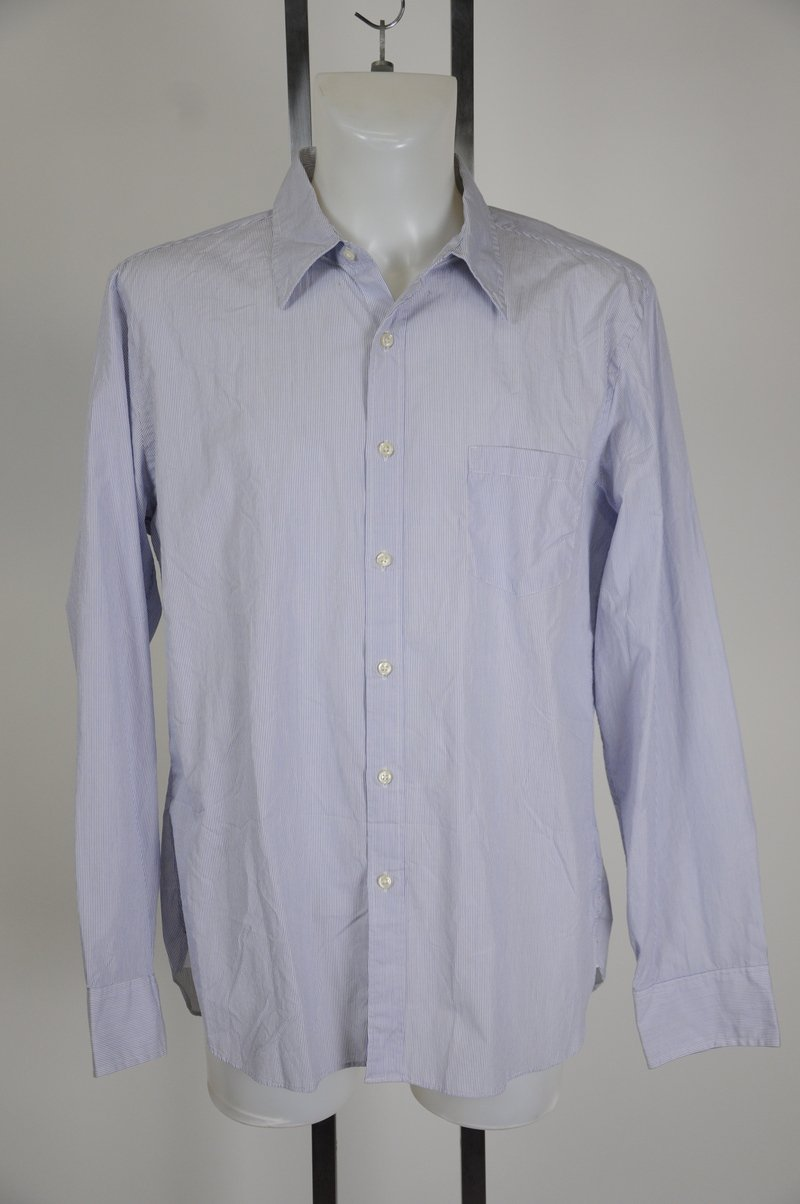 NWOT J Crew Blue and White Stripe X Large 100% Cotton Dress Shirt