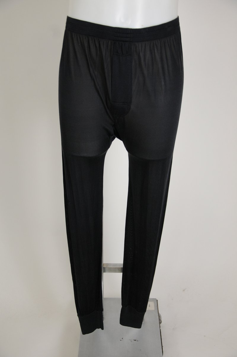 NWOT Winter Silks Black 100% Silk Thermal Underwear Long Johns