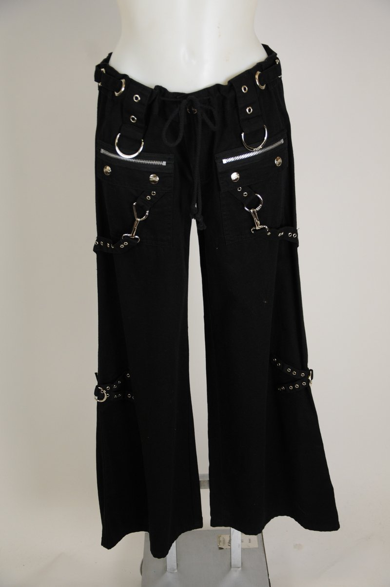 NWOT Tripp NYC Womens Gothic Bondage Chain Pants Size 7 100% Cotton