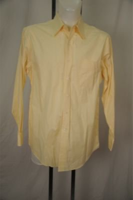 Club Room Yellow 80's PinPoint Dress Shirt Large�
