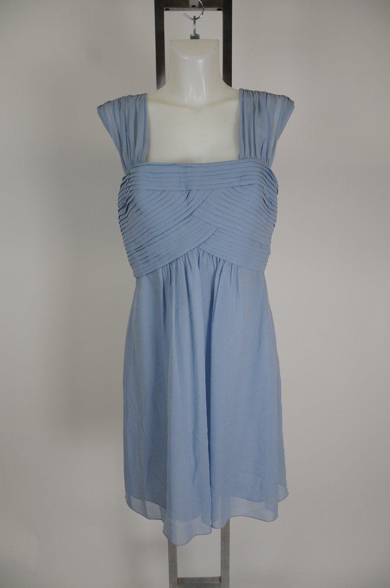 New BCBG Maxazria Light Powder Blue 100% Silk Cocktail Dress Size 12