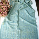 Sunflower rhyme silk blue cotton scarf