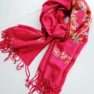 Cashmere tree and flower rose cashmere scarf