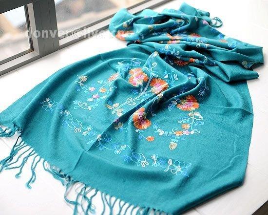 Cashmere tree and flower Chinese cymbidium scarf