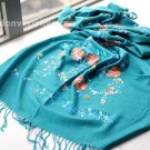 Cashmere tree and flower Chinese cymbidium scarf