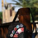 Miao nation round point pattern small hand bag