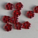 Ruby Luster Daisy Beads