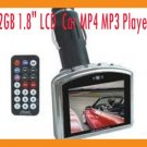 "2GB 1.8"" LCD HOT SELL  Car MP4 MP3 Player with FM transmitter 2G"