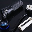 CREE LED Zoomable 3 Mode  200 Lumen Flashlight Torch  30pcs/lot  Free shipping