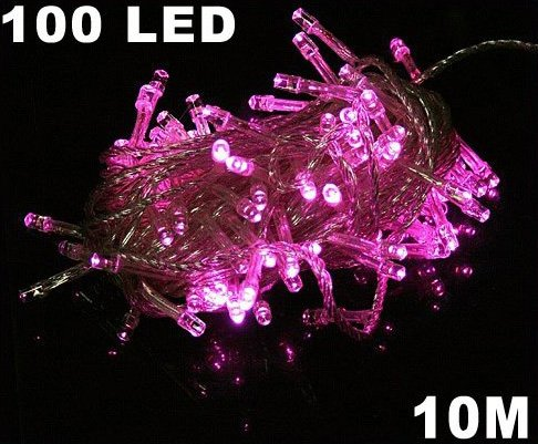 Pink 100 LED 10m String Light for Party Wedding  5pcs/lot  Free Shipping