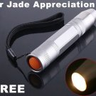 CREE LED Flashlight Yellow Light for Jade Appreciation  5pcs/lot  Free Shipping