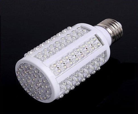 E27 220V 7W 166 White LED Light Bulb Lamp wholesale free shipping