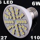 Ultra Bright 110V 6W E27 36 LED Light Bulb Lamp  5pcs/lot  Free Shipping by EMS/DHL