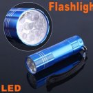 Mini 9 LED Handheld Flashlight Lamp Torch Lights  15pcs/lot  Free Shipping