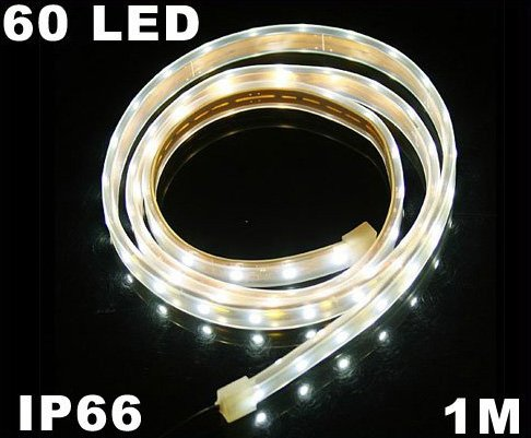 White Light IP66 Waterproof 1M SMD 3528 60 LED Strip Light  10pcs/lot  Free Shipping