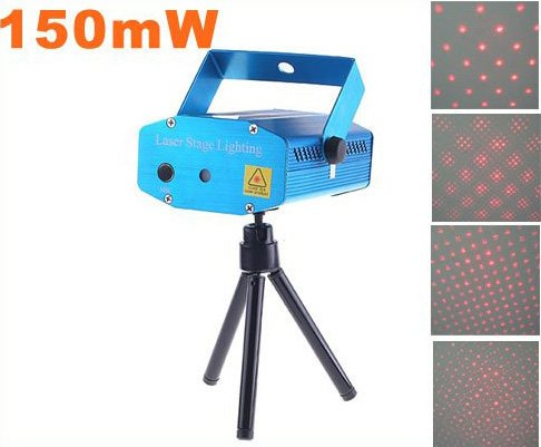 150mW Mini Red Moving Party  Laser LED Stage Light   5pcs/lot  Free Shipping