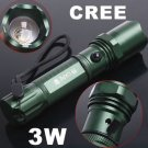 3W Adjustable Focus Beam CREE Q5 Chargeable LED Flashlight  CREE Flashlight  Free Shipping