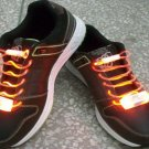 LED Light Up Shoelaces Flash Shoestrings Orange  10sets/lot  Free Shipping