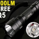 300 Lumens CREE Q5 LED Outdoor Camping Lamp Torch Flashlight  5pcs/lot  Free Shipping