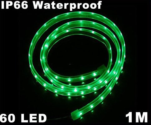 IP66 Waterproof 1M SMD 3528  60 LED Strip Light  Free Shipping  Retail