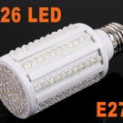 7W E27 220V White 360 Degree 6500K 126 LED Corn Light Bulb Energy Saving Lamp