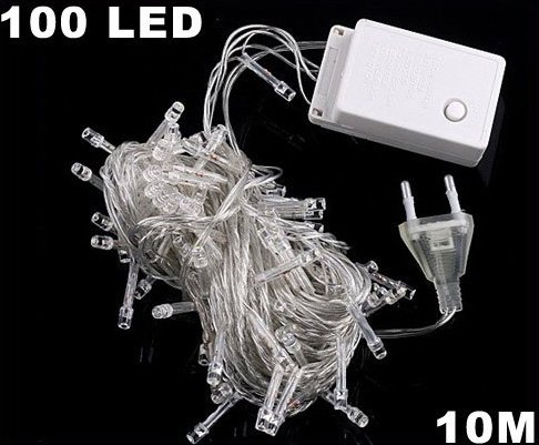 White 10m 100 LED String Light for  Party Wedding  Free Shipping