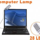 20pcs/lot  Free Shipping  Bright Flexible Mini 28 LED USB Light Computer Lamp