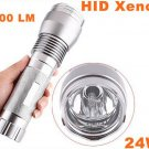 24W Ultra-Bright Waterproof HID Xenon Flashlight  HID Torch Flashlight  Free shipping by EMS/DHL