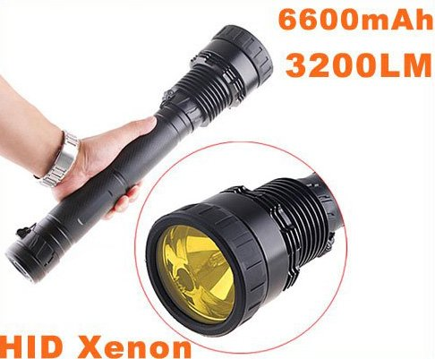 35/28W 3200LM Ultra-Bright HID Xenon Flashlight Torch  Free Shipping by EMS/DHL  Dropshipping