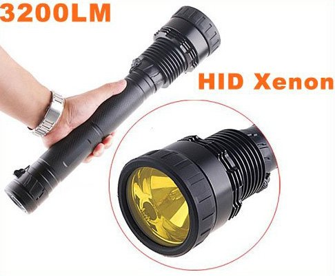 35/28W 3200LM Ultra-Bright HID Xenon Flashlight Torch  Free Shipping  Dropshipping
