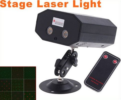 Mini Multicolor Moving Party Stage Laser Light Projector with Remote  5 pcs/lot  Free Shipping