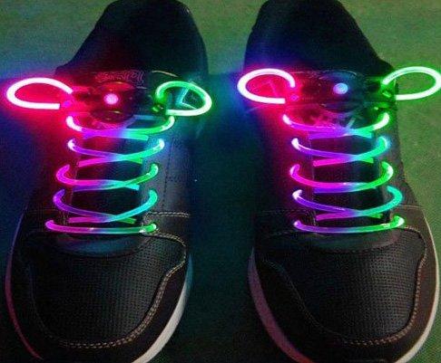 LED Light Up Shoes shoelaces Luminous shoestring Flash Glow Stick  5sets/lot  Free Shipping