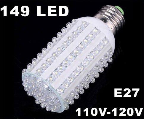 600LM E27 Screw 7W 110V-120V Corn Light 149 LED Light  Free Shipping  Retail